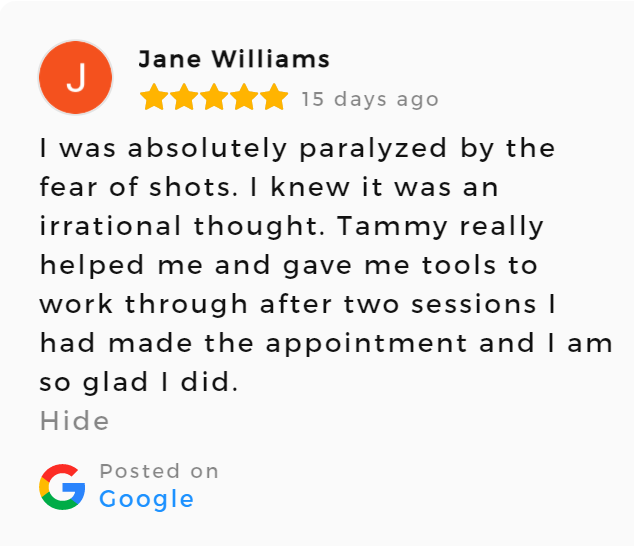 Testimonial on Hypnosis For Fear Of Needles